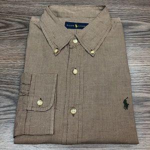 Polo Ralph Lauren Brown Houndstooth Shirt XL